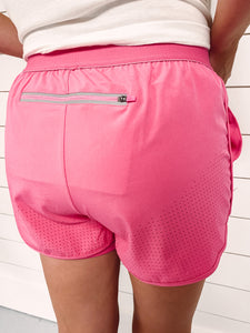 Marathon Athletic Shorts - Pink