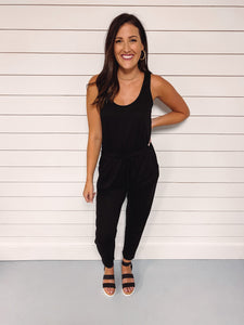 Maggie Basic Black Jumpsuit