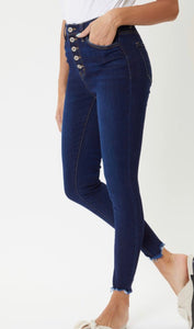 Coty Dark Wash High Rise Ankle Denim