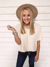 Load image into Gallery viewer, Katie V Neck Top - Beige