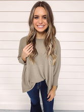 Load image into Gallery viewer, Layla Oversized Waffle Knit Top - Mocha
