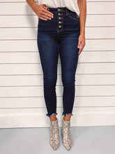 Load image into Gallery viewer, Coty Dark Wash High Rise Ankle Denim
