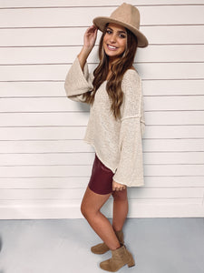 Aria Knit Sweater - Taupe