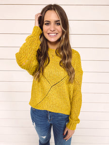 Chrisley Knit Sweater - Mustard