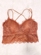 Load image into Gallery viewer, Demi Lace Padded Bralette