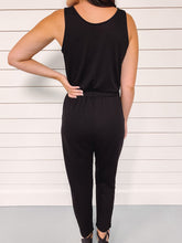 Load image into Gallery viewer, Maggie Basic Black Jumpsuit