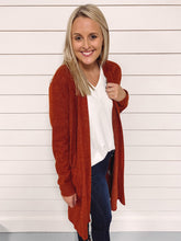 Load image into Gallery viewer, Catalina Pocket Cardigan - Rust
