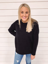 Load image into Gallery viewer, Marley Crew Neck Sweater - Black
