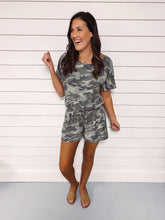 Load image into Gallery viewer, Corley Camo Romper