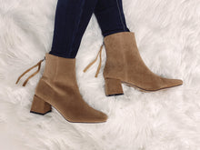 Load image into Gallery viewer, Blake Square Heel Booties - Tan Suede
