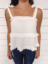 Load image into Gallery viewer, Everlasting Tiered Tank Top - White