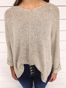Veronica Knit Sweater - Taupe
