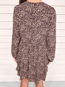 Addie Mocha Leopard Print Dress