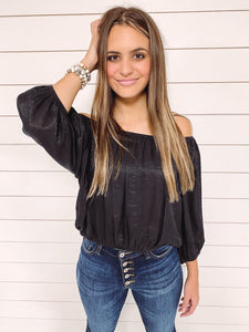 Kristen Off Shoulder Top - Black