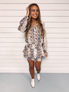Jacey Smocked Snake Print Dress