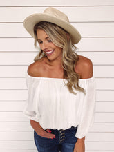 Load image into Gallery viewer, Kristen Off Shoulder Top - White