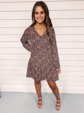 Load image into Gallery viewer, Addie Mocha Leopard Print Dress