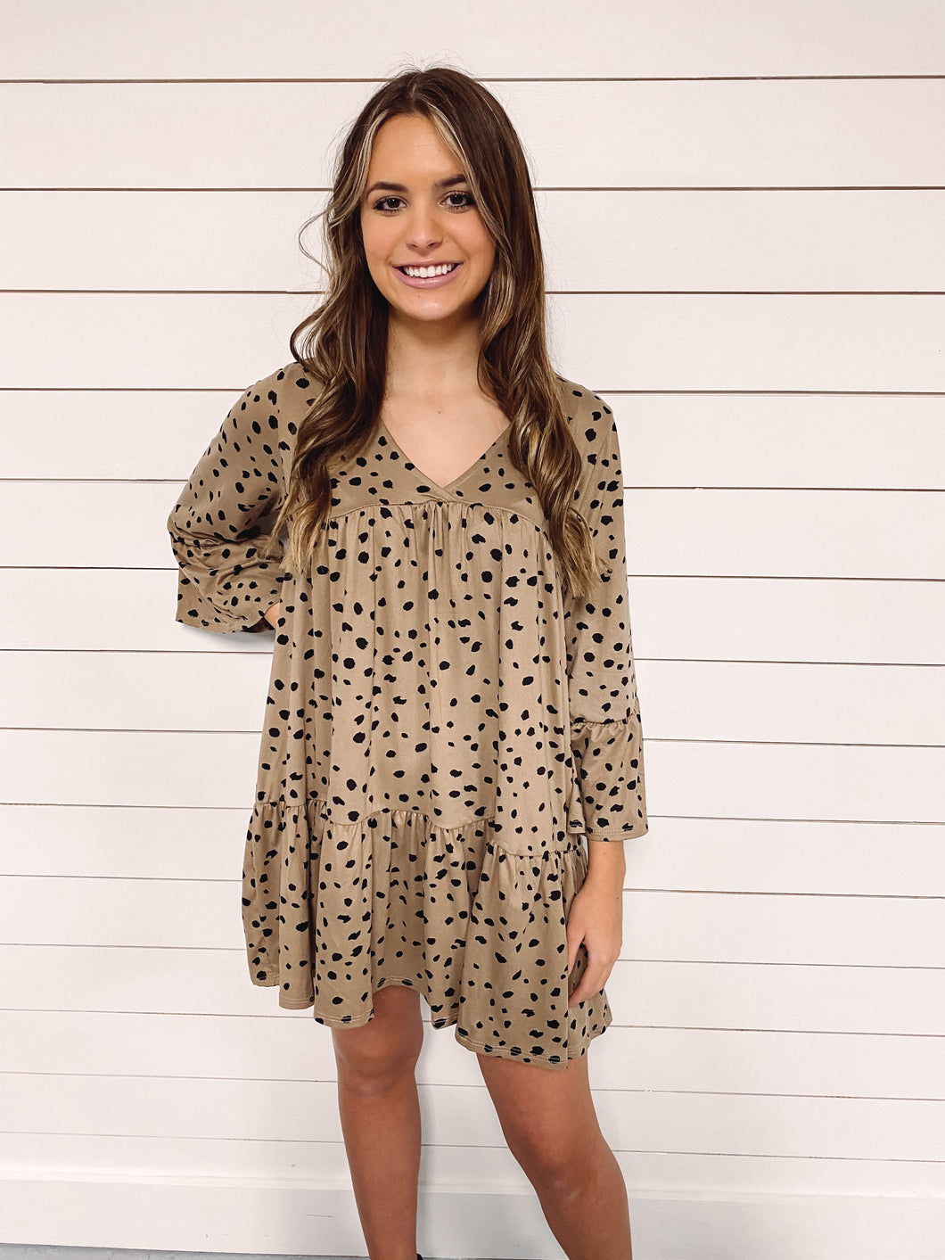 Carmen Cheetah Print Dress