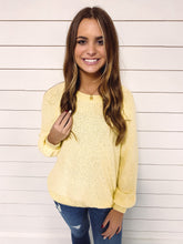 Load image into Gallery viewer, Shea Exposed Seam Knit Sweater - Yellow