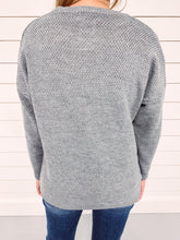 Load image into Gallery viewer, Marley Crew Neck Sweater - Grey