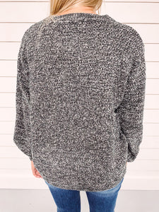 Carrie Textured Sweater - Grey