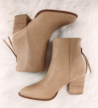 Load image into Gallery viewer, Court Leather Bootie - Taupe