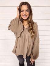 Load image into Gallery viewer, Madison Woven Top - Tan