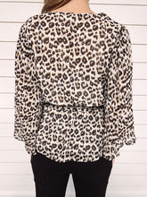 Load image into Gallery viewer, Grace Leopard Print Wrap Blouse