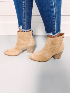 Court Suede Bootie - Taupe