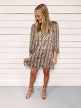 Load image into Gallery viewer, Priscilla Snake Print Dress