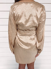 Load image into Gallery viewer, Lorelai Champagne Wrap Dress