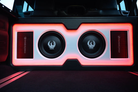 Phoenix Gold Subwoofer installed in Jeep Wrangler