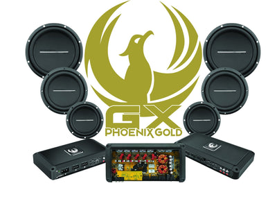 "GX 10"" High Performance Dual 4-Ohm Subwoofer - Phoenix Gold"