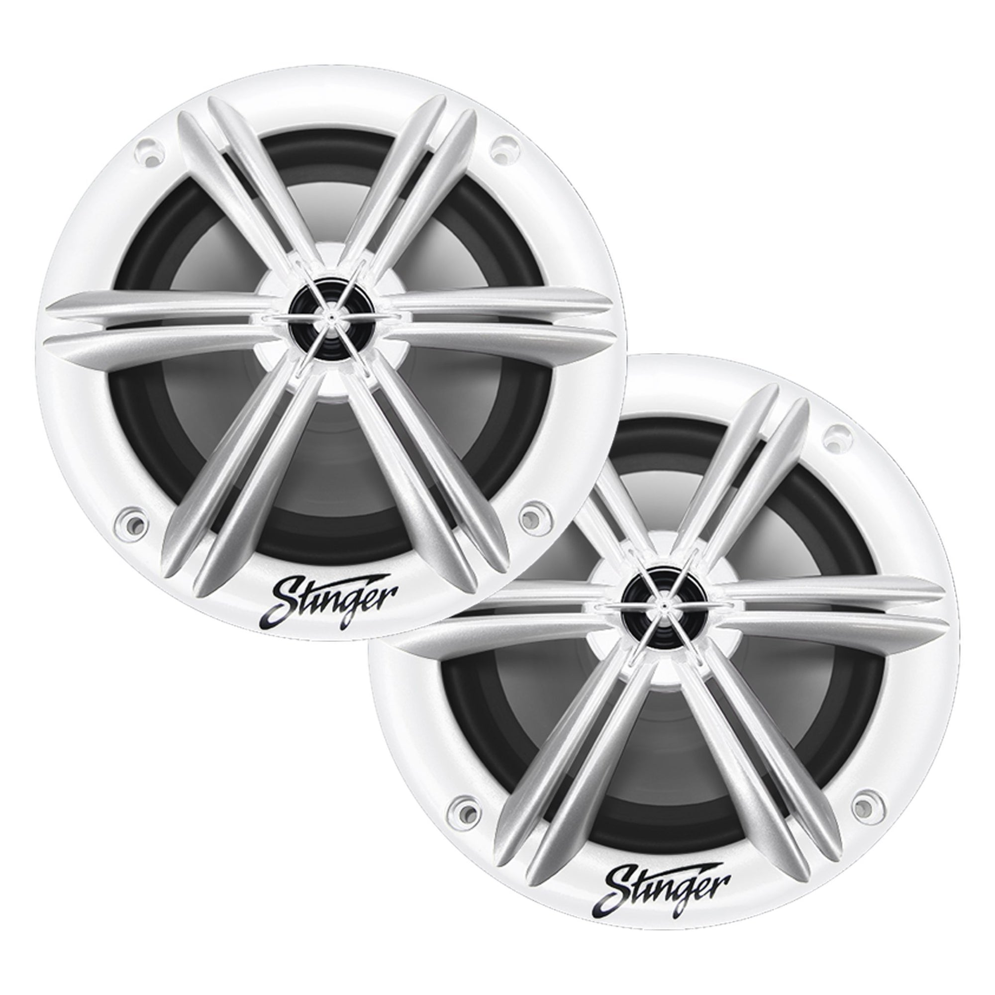 "Marine / Powersports 6.5"" White Coaxial Marine Speakers - Phoenix Gold"