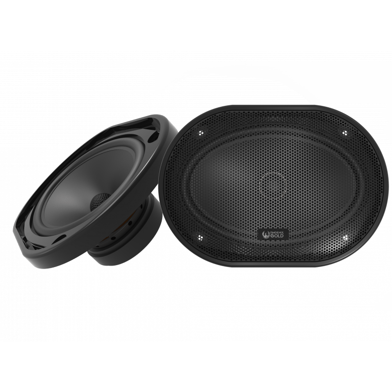 "MX 6x9"" Dual Concentric Coaxial Speakers - Phoenix Gold"