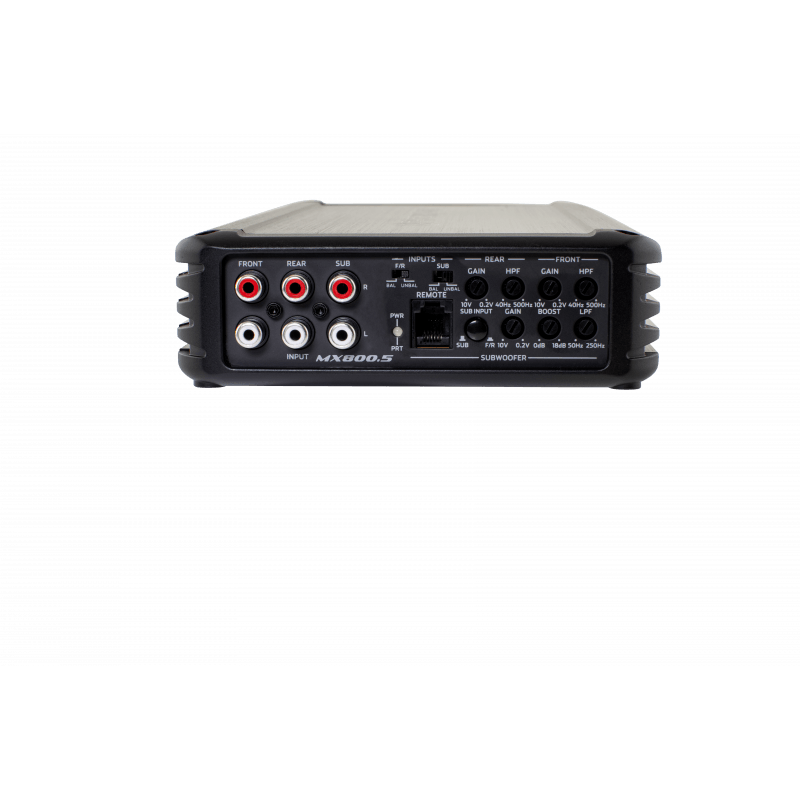 MX 800W 5 Channel Full Range Class D Sub Compact Amplifier - Phoenix Gold