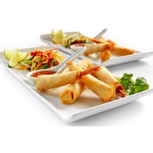 Oriental King Prawn Rolls With Sweet Chilli Dip