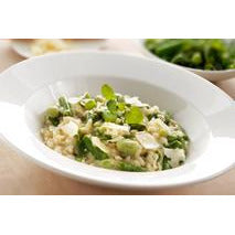 Asparagus, Broad Bean & Roasted Garlic Risotto