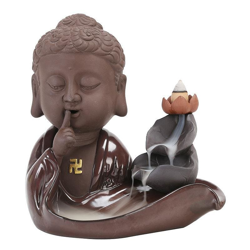 Porte-Encens Fleur de Lotus Zen Grand Bouddhiste en Céramique - Royal Lotus