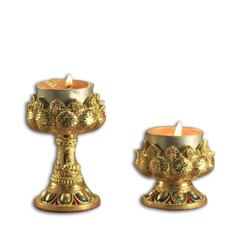 Photophore Fleur de Lotus Couleur Bronze - Royal Lotus