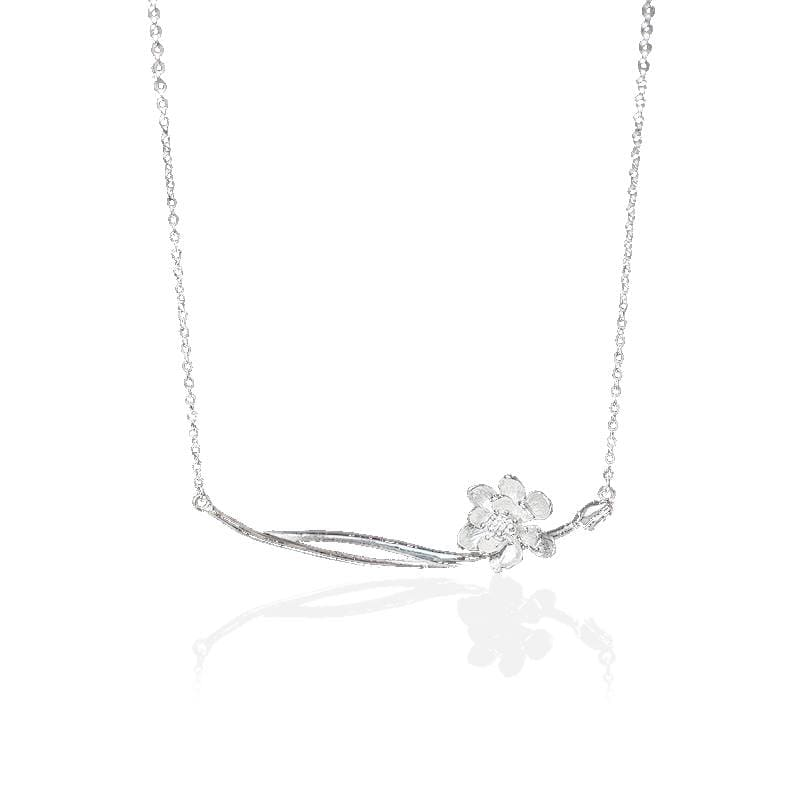Collier Fleur de Lotus Argent 925 Style Chinois - Royal Lotus