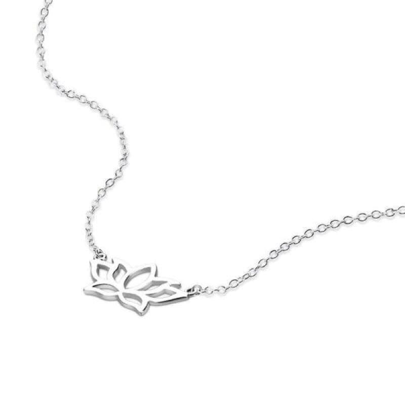 Collier Fleur de Lotus 925 Argent Vintage - Royal Lotus