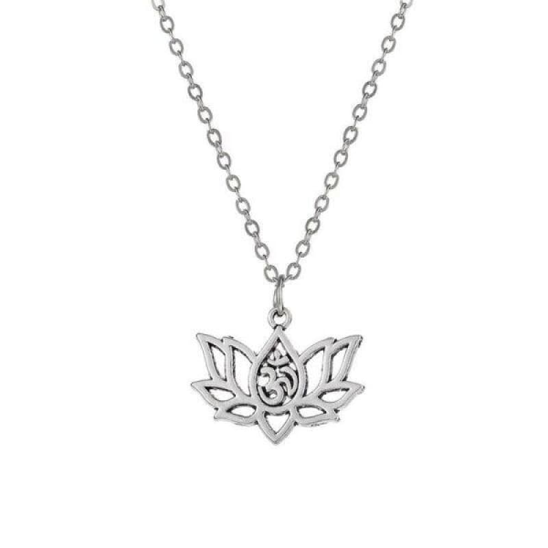 Collier Fleur de Lotus Argent Om - Royal Lotus