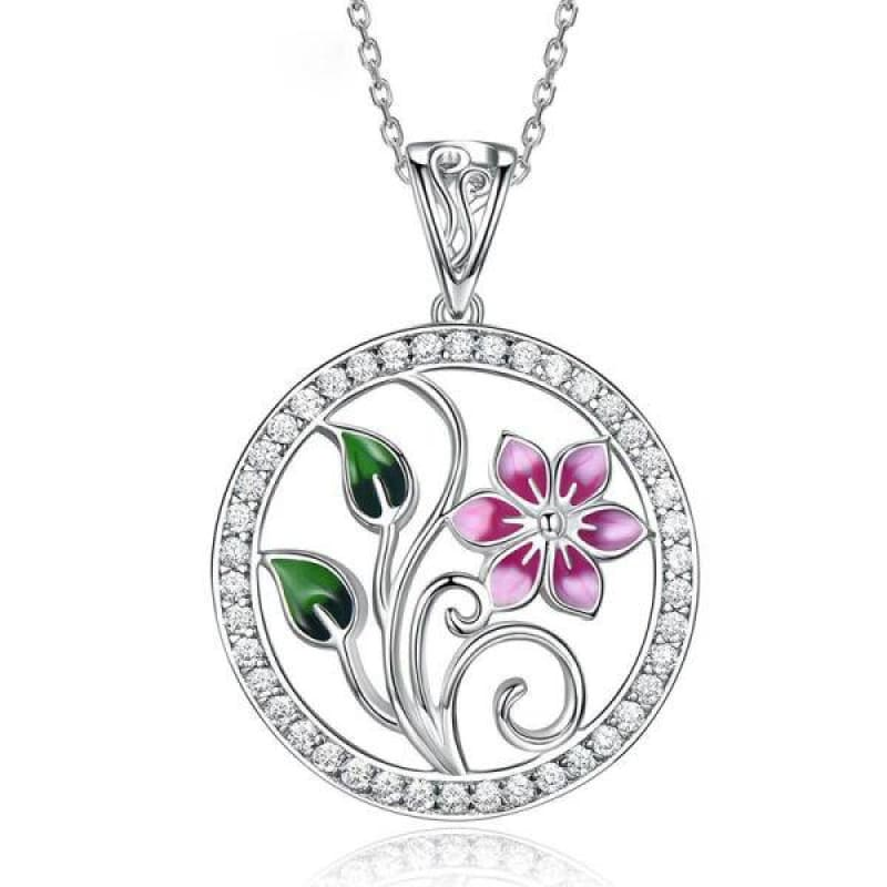 Collier Fleur de Lotus Argent 925 en Email Coloré - Royal Lotus
