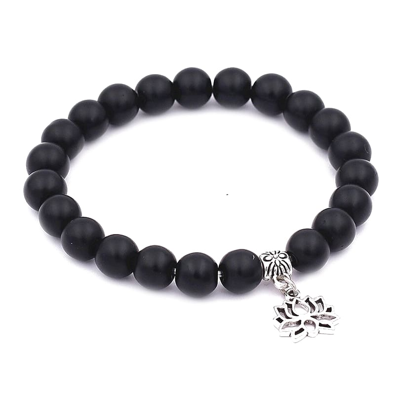 Bracelet Mala Fleur de Lotus Tibétain Onyx - Royal Lotus
