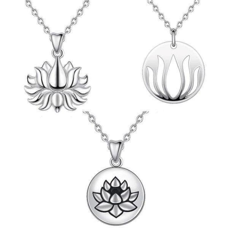 Collier Fleur de Lotus Argent 925 Rétro - Royal Lotus