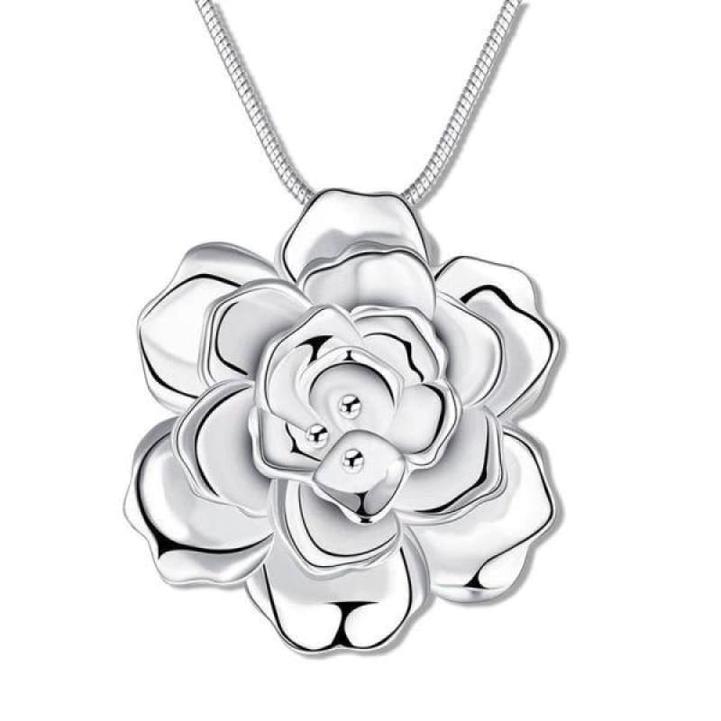 Collier Fleur de Lotus Argent 925 Zircon Florale - Royal Lotus