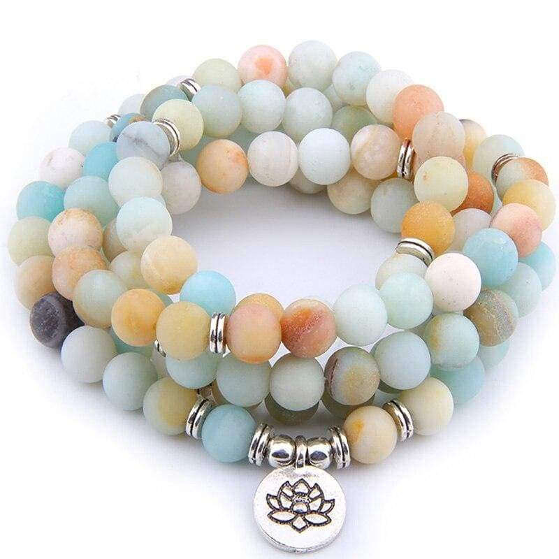 Bracelet Fleur de Lotus 108 Mala Yoga Pyrite - Royal Lotus