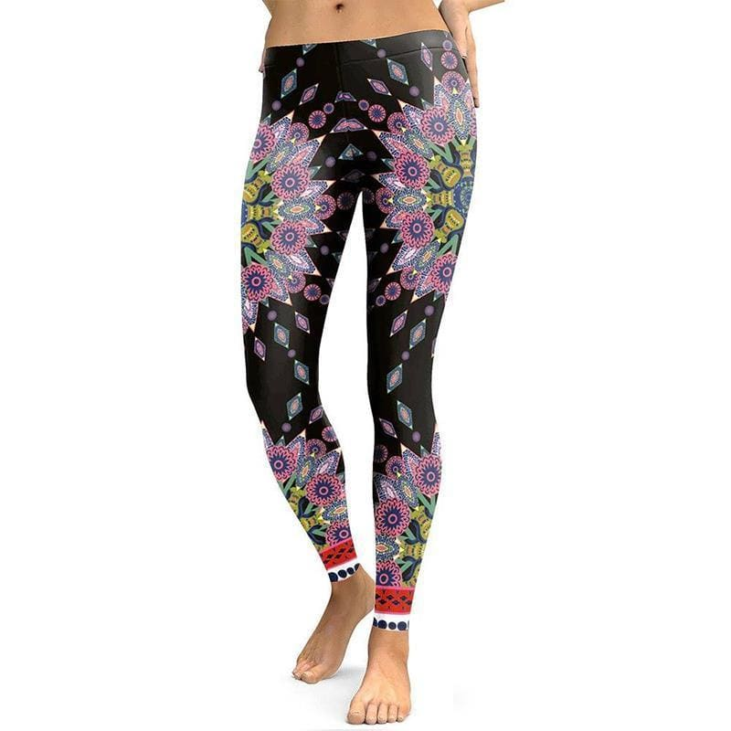 Leggings Yoga Fleur de Lotus Florale - Royal Lotus