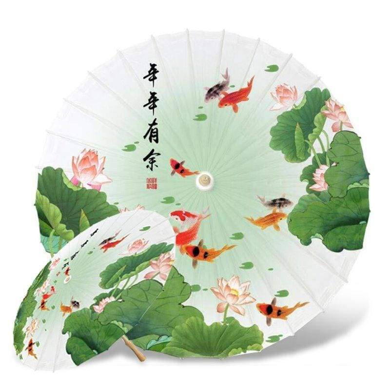 Parapluie Fleur de Lotus Asiatique Carpe Koi - Royal Lotus